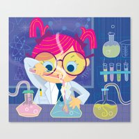 I freaking love science Canvas Print