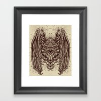 Theres A BAT! Framed Art Print
