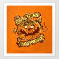 Halloween Orange Art Print