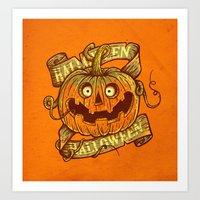 Halloween orange Art Print