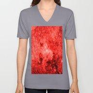 Red Galaxy Unisex V-Neck