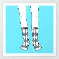 Socks For The Mr. Art Print