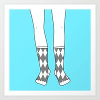 Socks for the Mr. Art Print