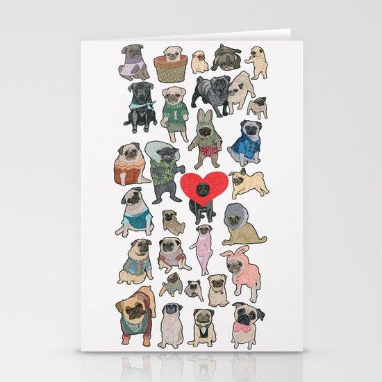 Pugs Stationery Card