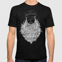 Aye Aye Captain Mens Fitted Tee Tri-Black SMALL