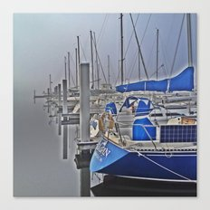 N is for Nautical (Sailboat) Canvas Print