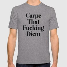 Carpe Mens Fitted Tee Athletic Grey SMALL
