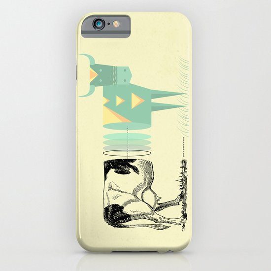 the black and white cow who wanted to be colorfully geometric  iPhone & iPod Case