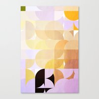 Retro Dots Orchids Canvas Print