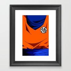 Goku's Suit DBZ Framed Art Print