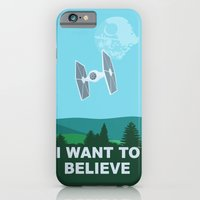 iPhone & iPod Case featuring I WANT TO BELIEVE - Star Wars by John Medbury (LAZY J Studios)