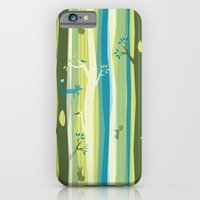 iPhone & iPod Case featuring Woodland Stripe by AllisonBeilke