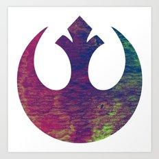 Star Wars Rebel Color Art Print