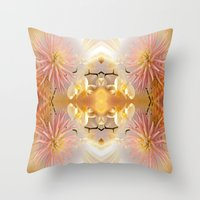 Dahlias And Orchids Flo… Throw Pillow