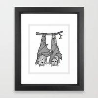 Tickle Bats Framed Art Print