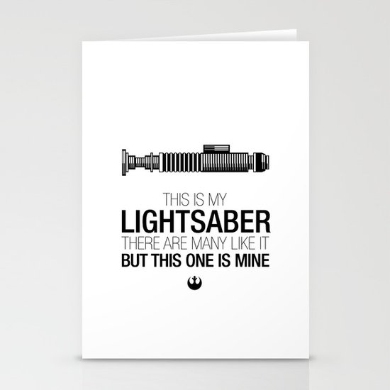 This is my Lightsaber (Luke Version) Stationery Card