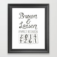Brown & Larsen Family Re… Framed Art Print
