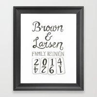 Brown & Larsen Family Reunion 2014 Framed Art Print