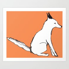 A Fox in The Park Art Print