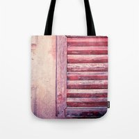 Moody weathered shutter Tote Bag