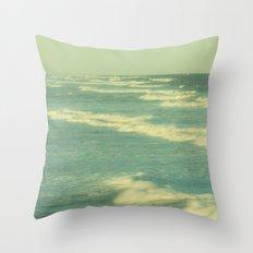 Green Aisles Throw Pillow