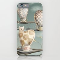 iPhone & iPod Case featuring Cats in Cups by Fizzyjinks