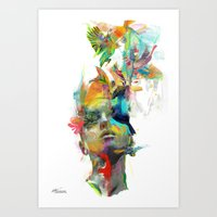 peace Art Prints featuring Dream Theory by Archan Nair
