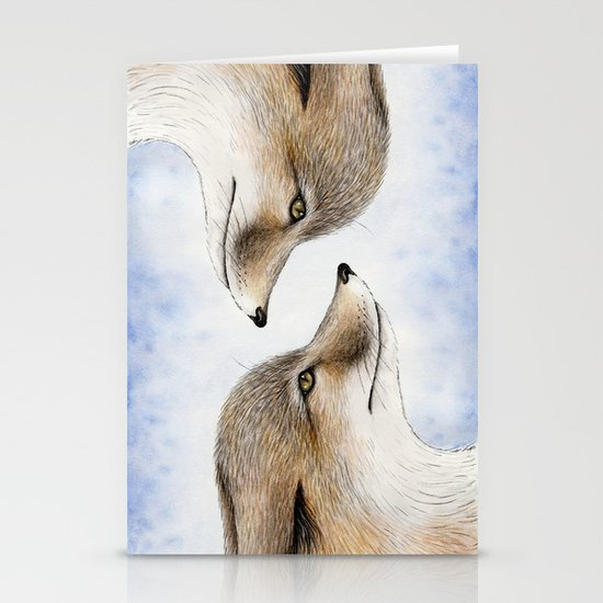 Swift Fox Stationery Card
