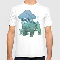 Kurt Russell Terrier - R… Mens Fitted Tee White SMALL