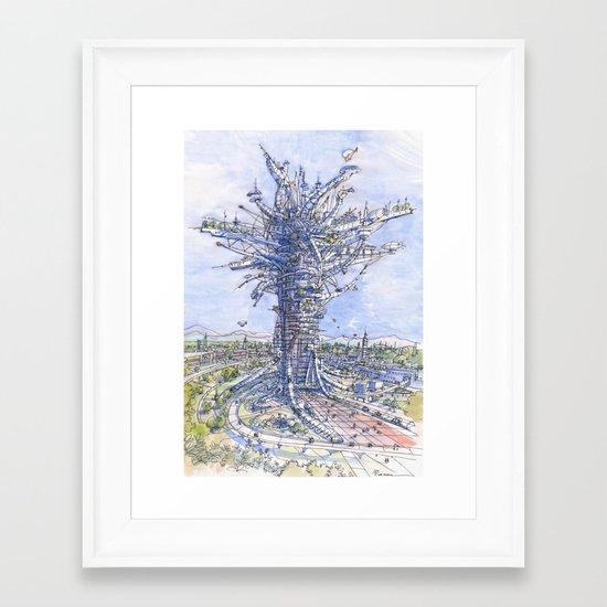 L'albero antropizzato Framed Art Print