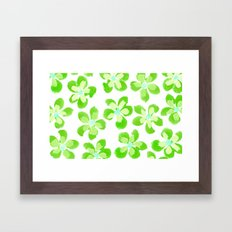 Posey Power - Electric Lime Multi Framed Art Print