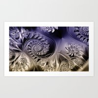 Metallic Coils Art Print