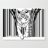 Tigers extinct in 12 years? Canvas Print