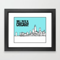 Smile Chicago Framed Art Print