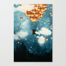 Where All The Wishes Com… Canvas Print