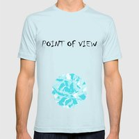 BlueMING Mens Fitted Tee Light Blue SMALL