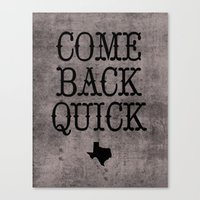 Dear Texas Canvas Print