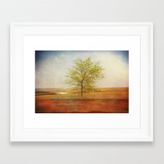 Lonely tree.I Framed Art Print
