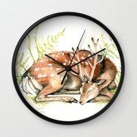 Sleeping Deer Wall Clock