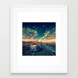 Framed Art Print - american landscape 6 - Bekim ART