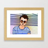 dumb self portrait 7.12.2015 Framed Art Print