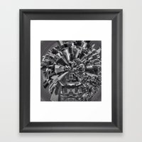 Chicago little planet Framed Art Print