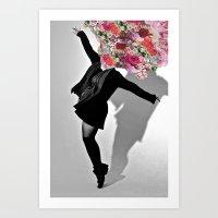 Dancing Flowers Art Print