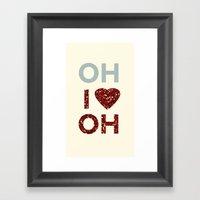 I Love Ohio Framed Art Print
