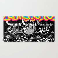 Sloths, Pyramids, Skulls… Canvas Print
