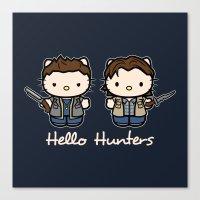 Hello Hunters Canvas Print