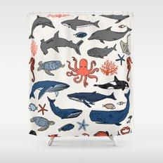 Ocean Animals  Shower Curtain