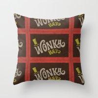 Wonka Bar Throw Pillow