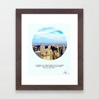 This is New York Framed Art Print
