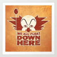 We All Float  Art Print